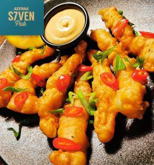Traškios krevetės keptos tempuroje